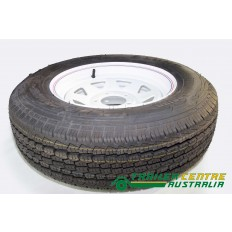 "14"" Tyre with Rim Fitted Ford stud pattern 185R14C for Trailer, Caravan"